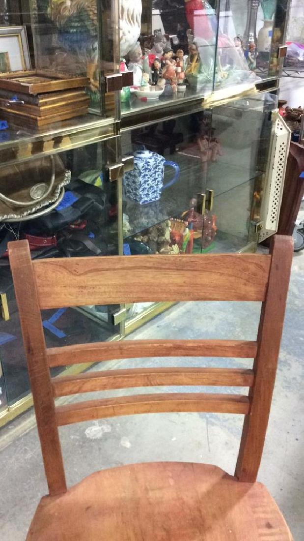 Brown Toned Wooden Chair - 8