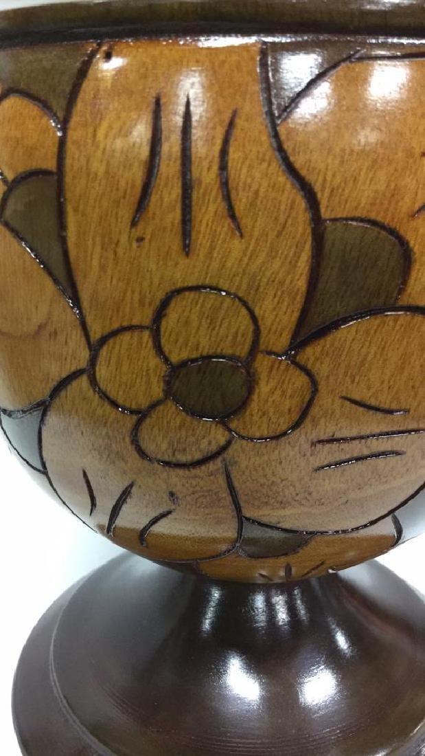 Sonson Rénélus Carved Wooden Tabletop Accessory - 3