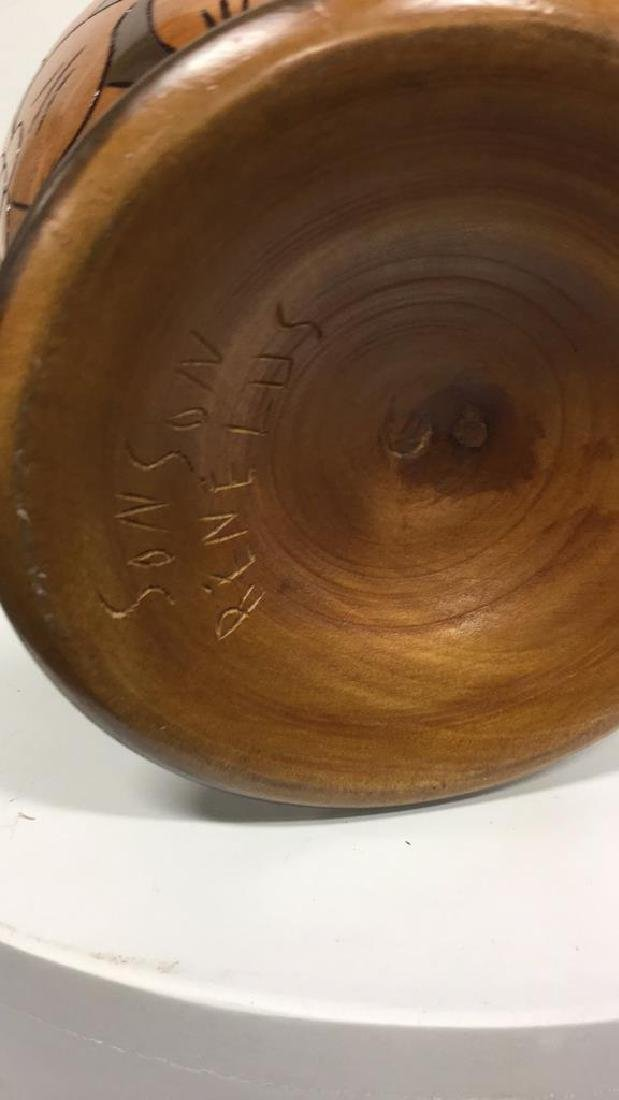 Sonson Rénélus Carved Wooden Tabletop Accessory - 6