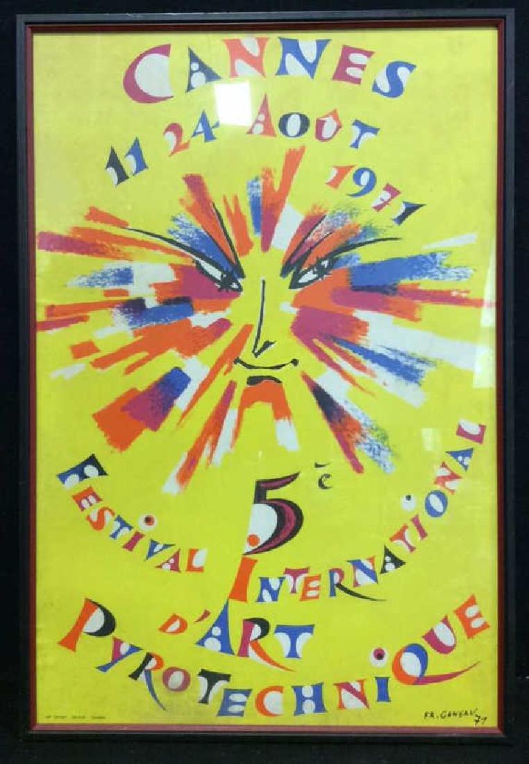Framed Vintage FR. GANEAU Poster