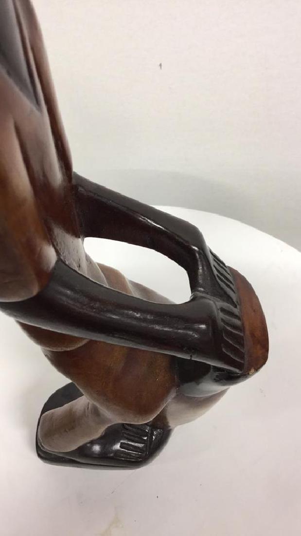 Pair Carved Wooden Drummer Figurals - 4