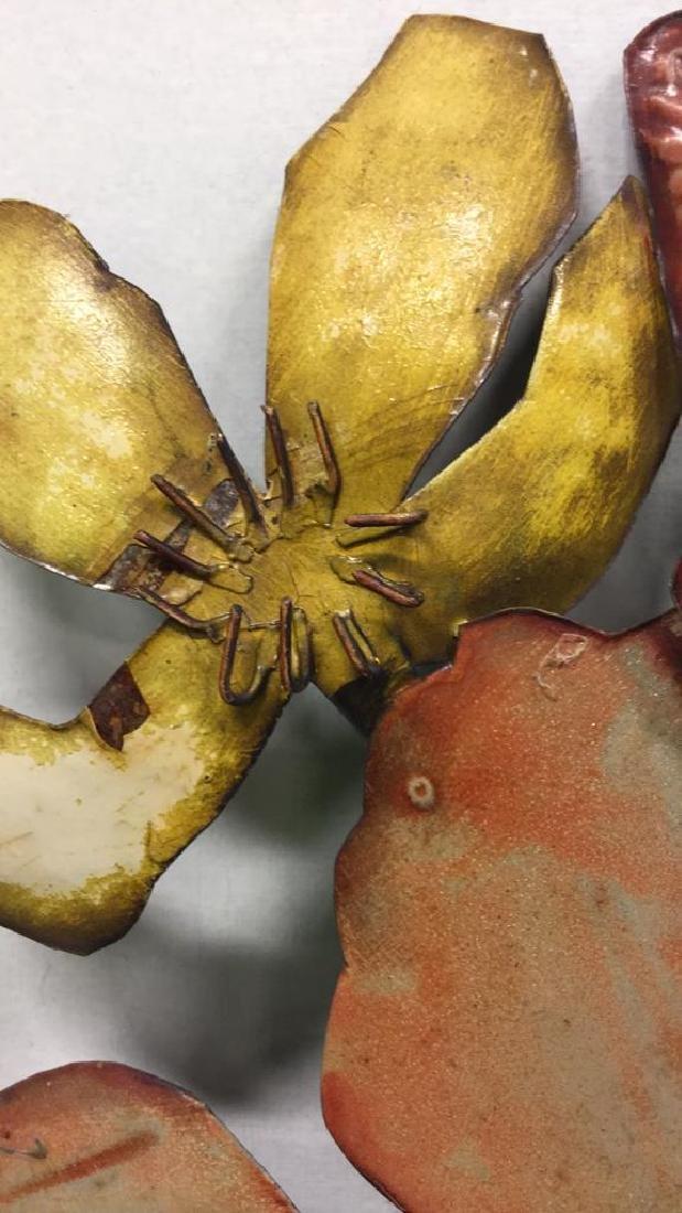 Floral Metal Art Sculpture Wall Art - 4