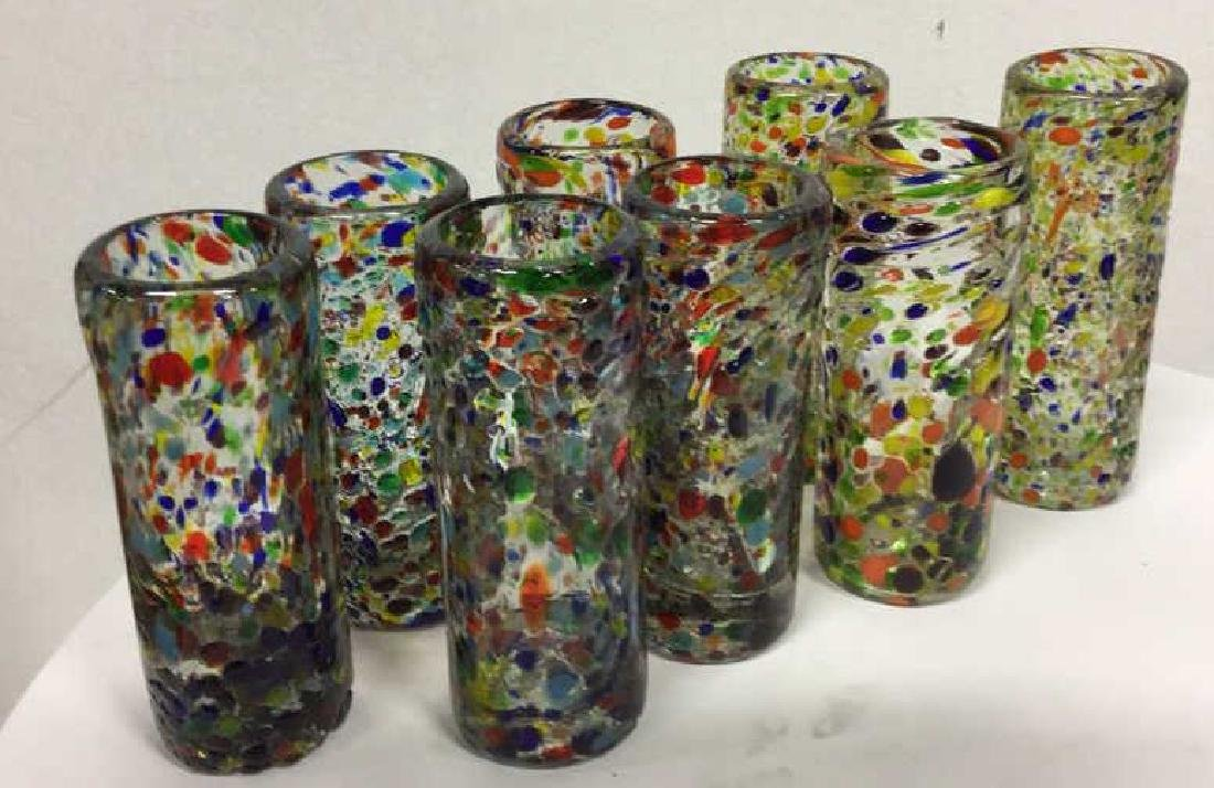 Handcrafted Art Glass Tequila Glasses - 2