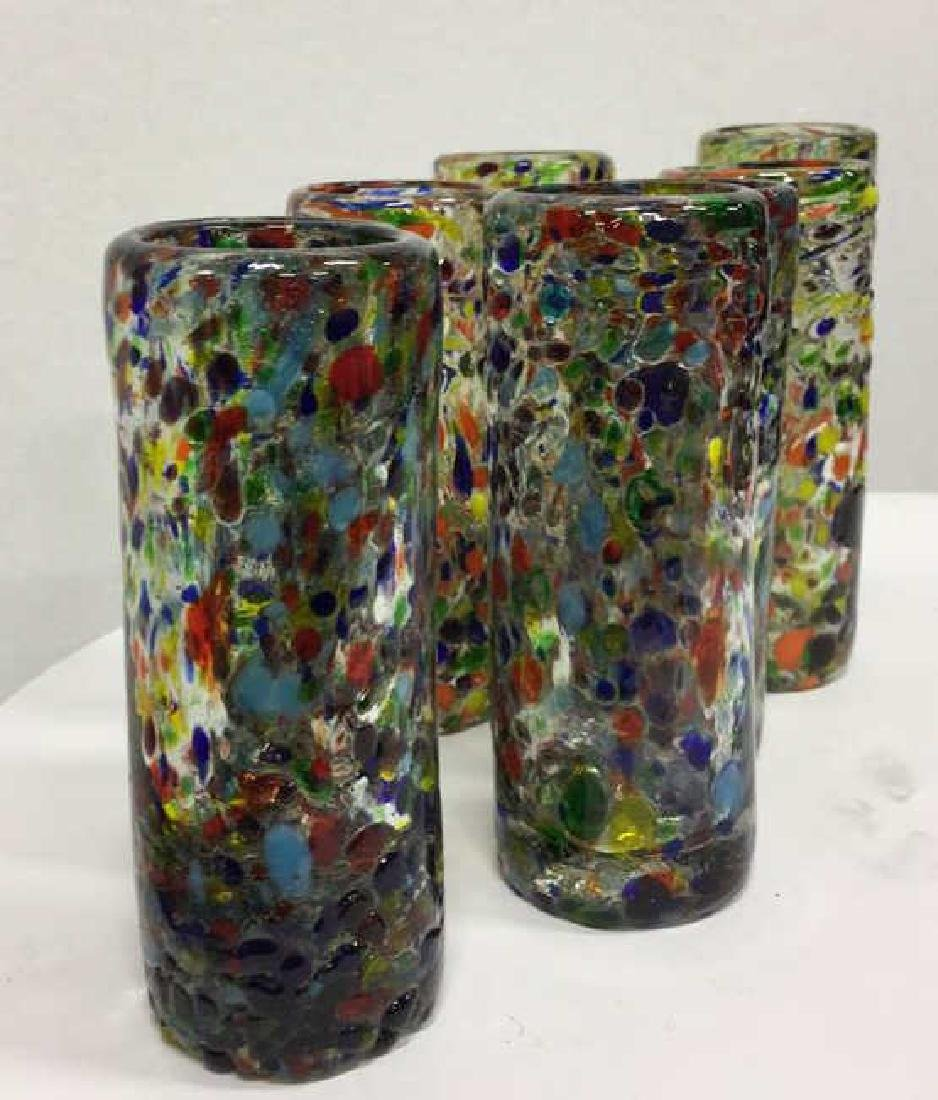 Handcrafted Art Glass Tequila Glasses - 3