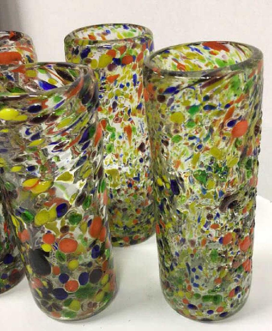 Handcrafted Art Glass Tequila Glasses - 4