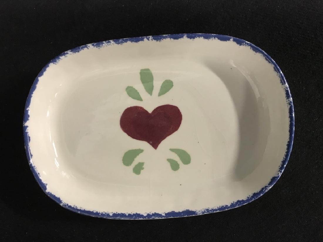 Lot 3 Jane James Ceramic Dishes With Heart Motif - 2