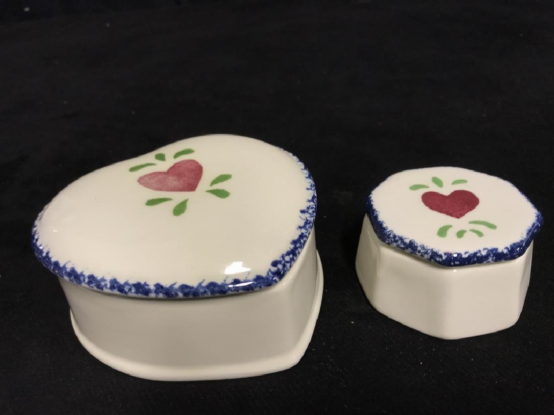 Lot 3 Jane James Ceramic Dishes With Heart Motif - 3