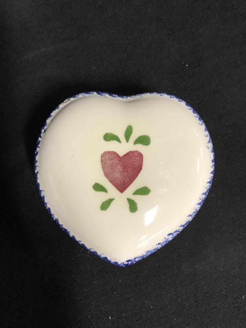 Lot 3 Jane James Ceramic Dishes With Heart Motif - 4