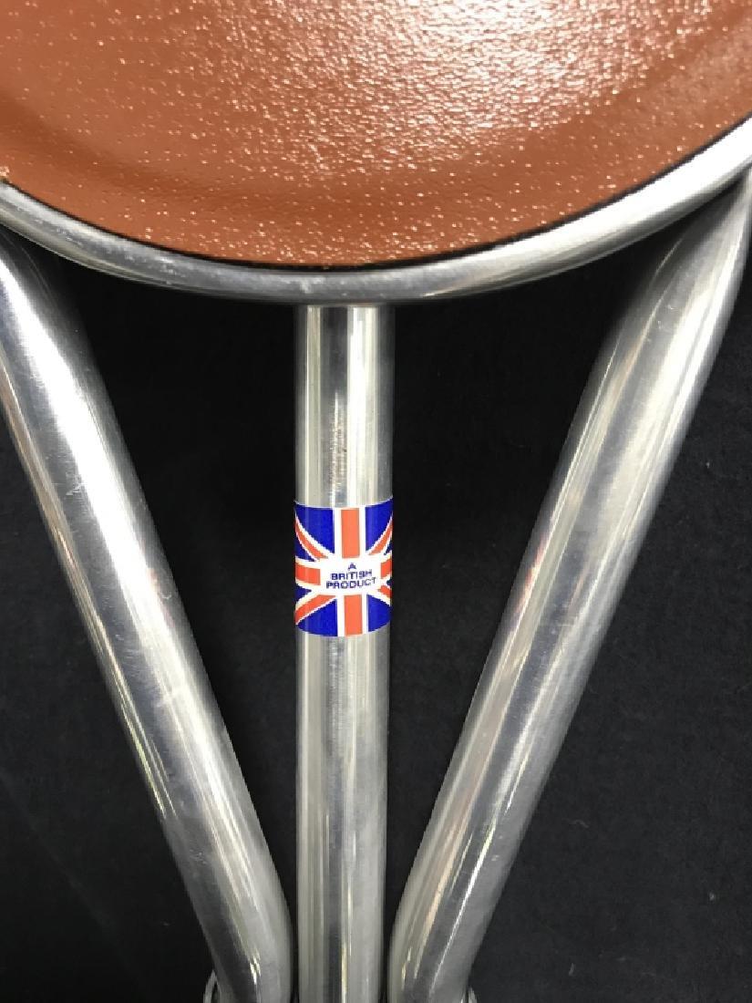 English Tirion Brown Leather Tripod Seat Stick - 3