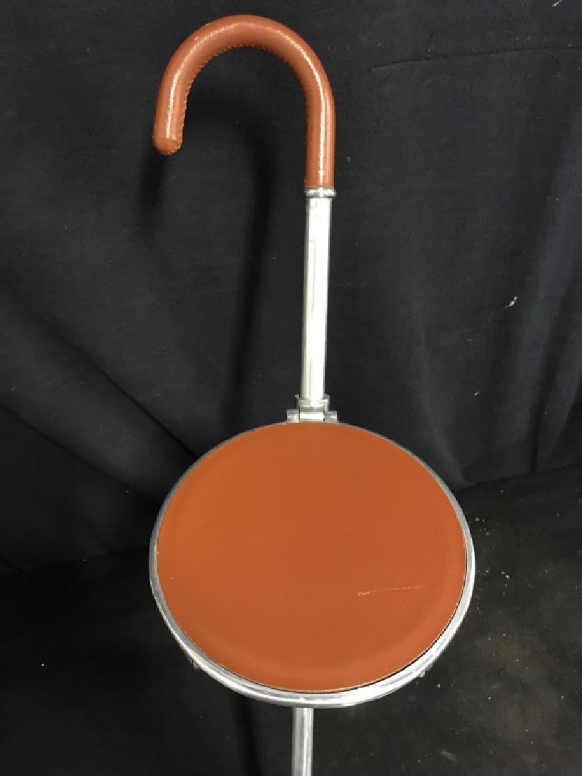 English Tirion Brown Leather Tripod Seat Stick - 6
