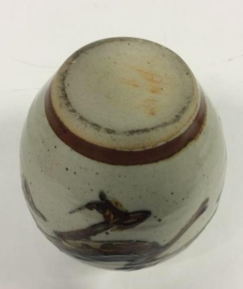 Vintage Hand Crafted Painted Ceramic Vase - 10