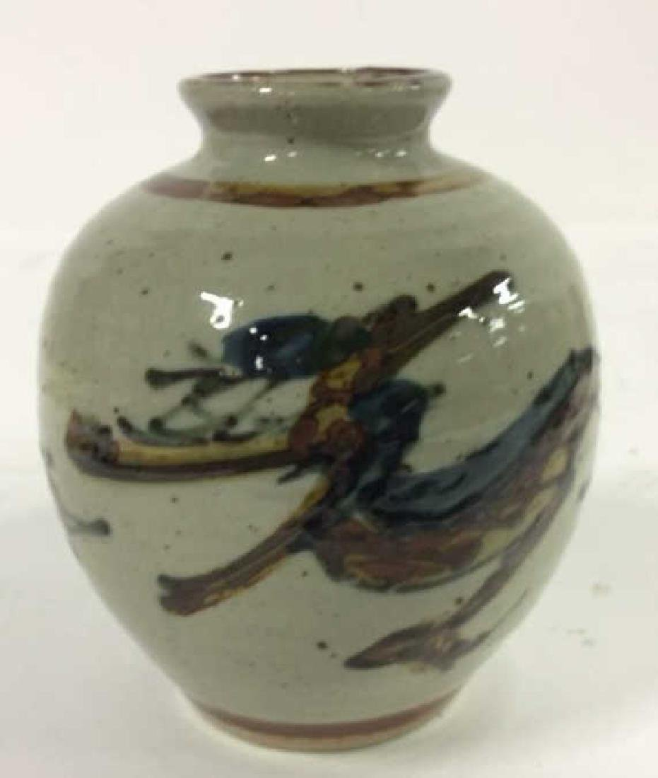 Vintage Hand Crafted Painted Ceramic Vase - 2