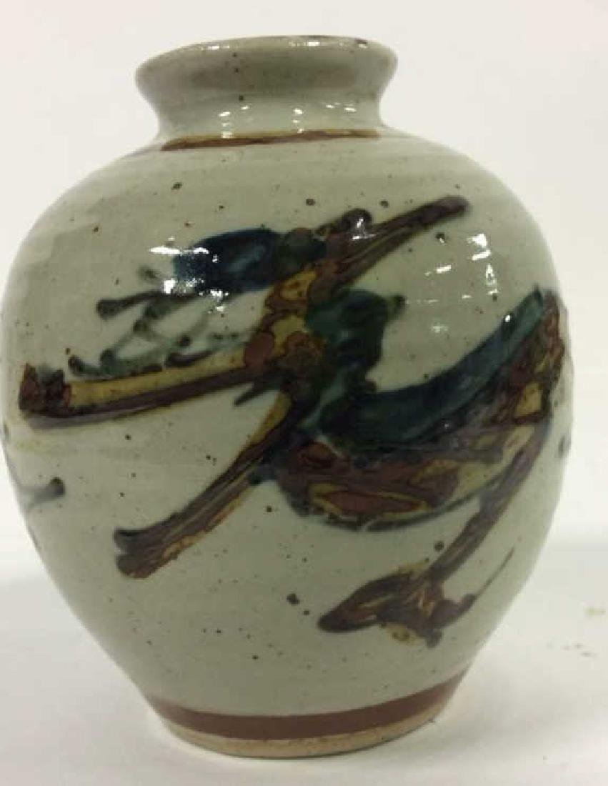 Vintage Hand Crafted Painted Ceramic Vase - 3