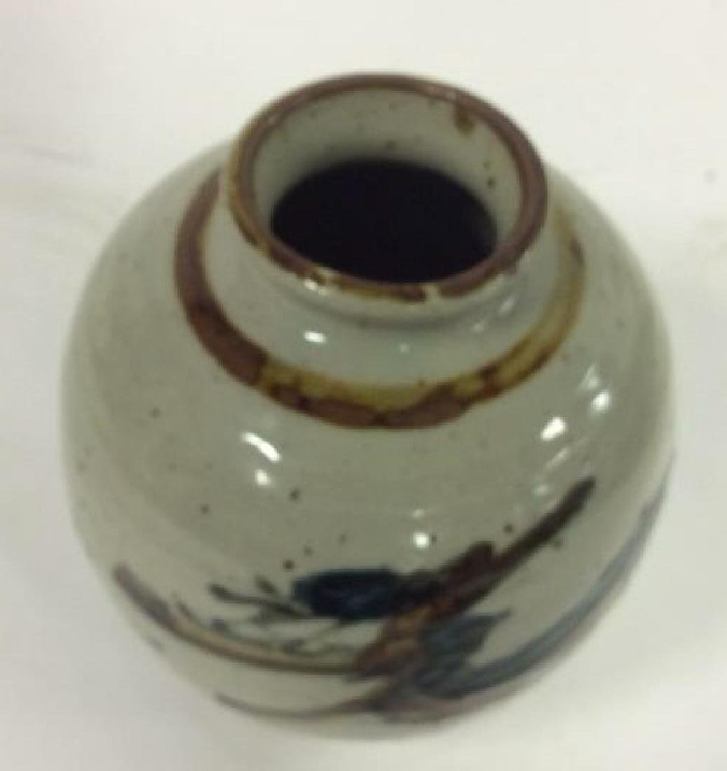 Vintage Hand Crafted Painted Ceramic Vase - 4
