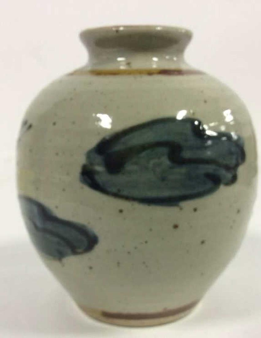 Vintage Hand Crafted Painted Ceramic Vase - 7