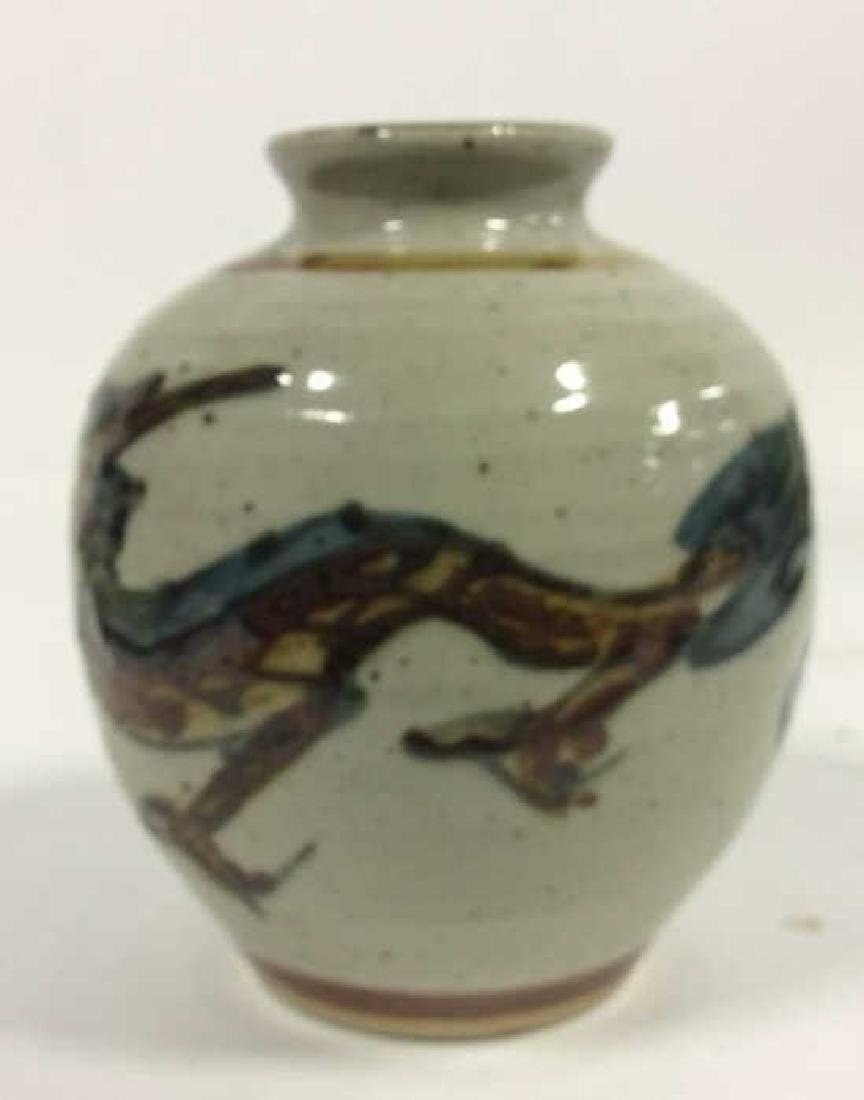 Vintage Hand Crafted Painted Ceramic Vase - 9