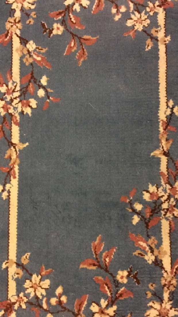 Lot 3 Floral Detail Wool Rugs W Fringes - 10