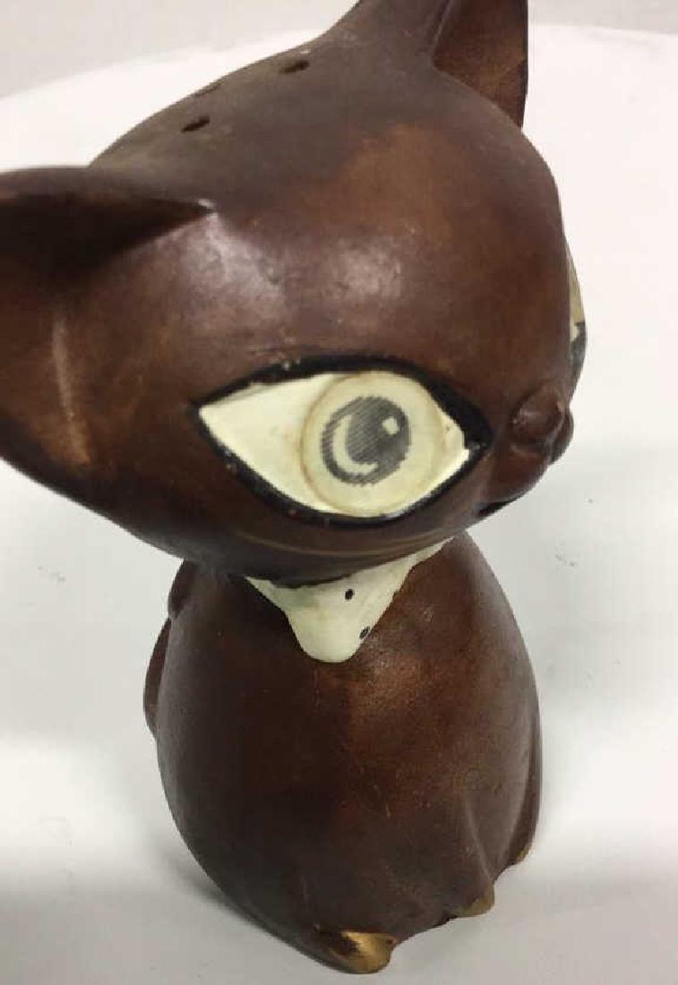 Pair Ceramic Cat Figural Salt and Pepper Shakers - 4