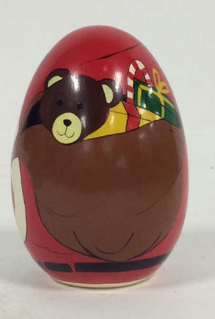 Hand Painted Santa Clause Paper Weight - 2