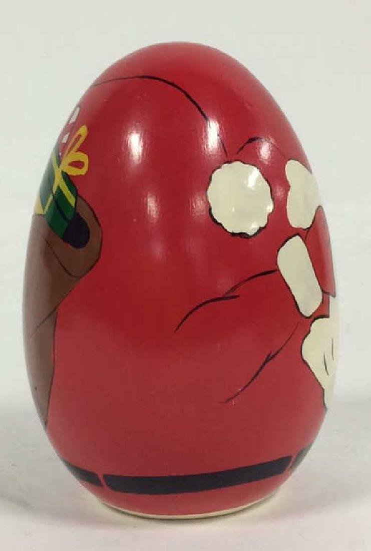 Hand Painted Santa Clause Paper Weight - 3