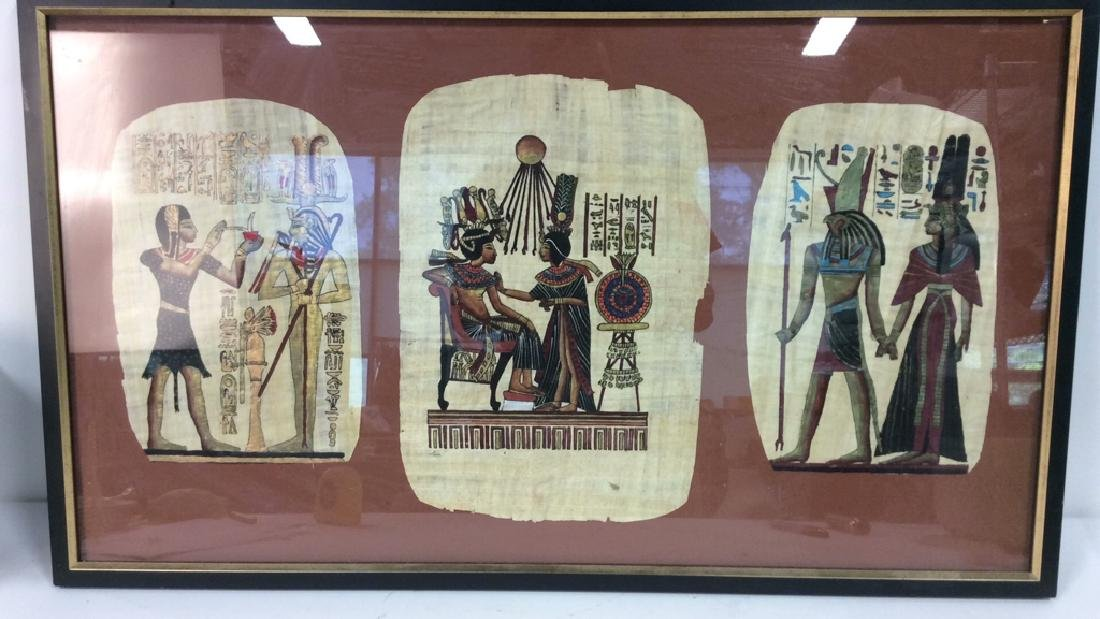 Egyptian Style Paintings on Handmade Paper