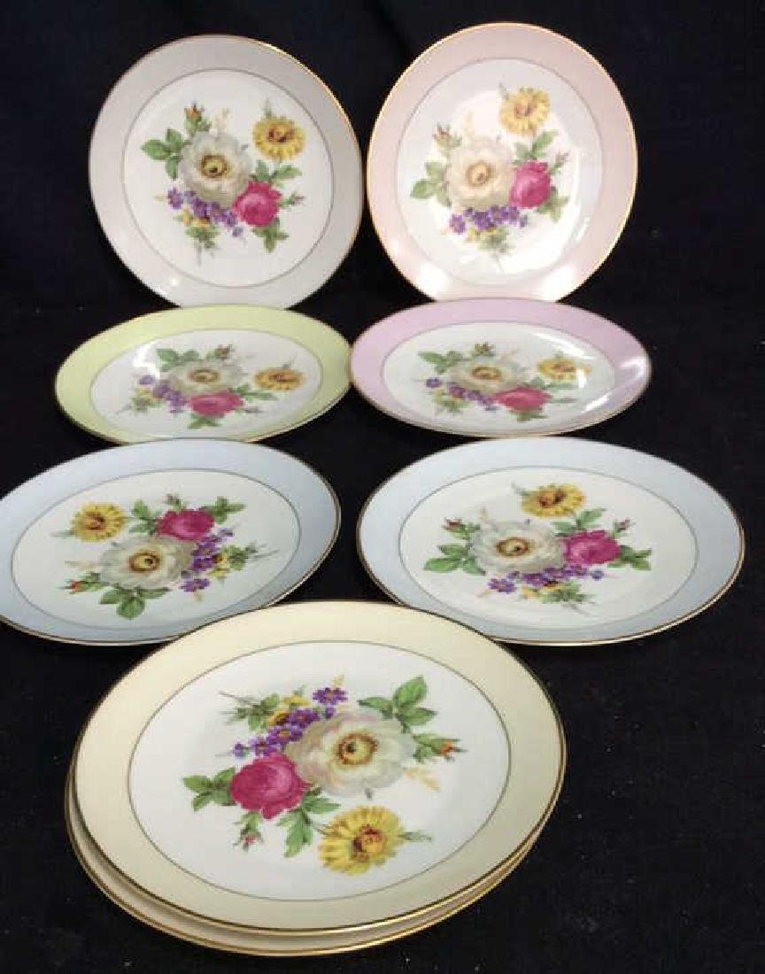 Alka Kunst, Colorful Floral Dessert Set