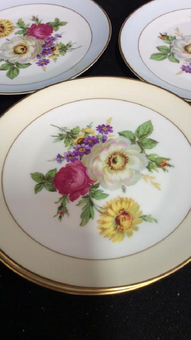 Alka Kunst, Colorful Floral Dessert Set - 3