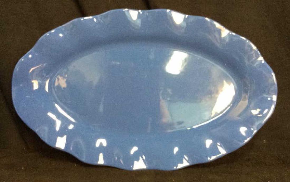 Blue Ceramic Serving Platter