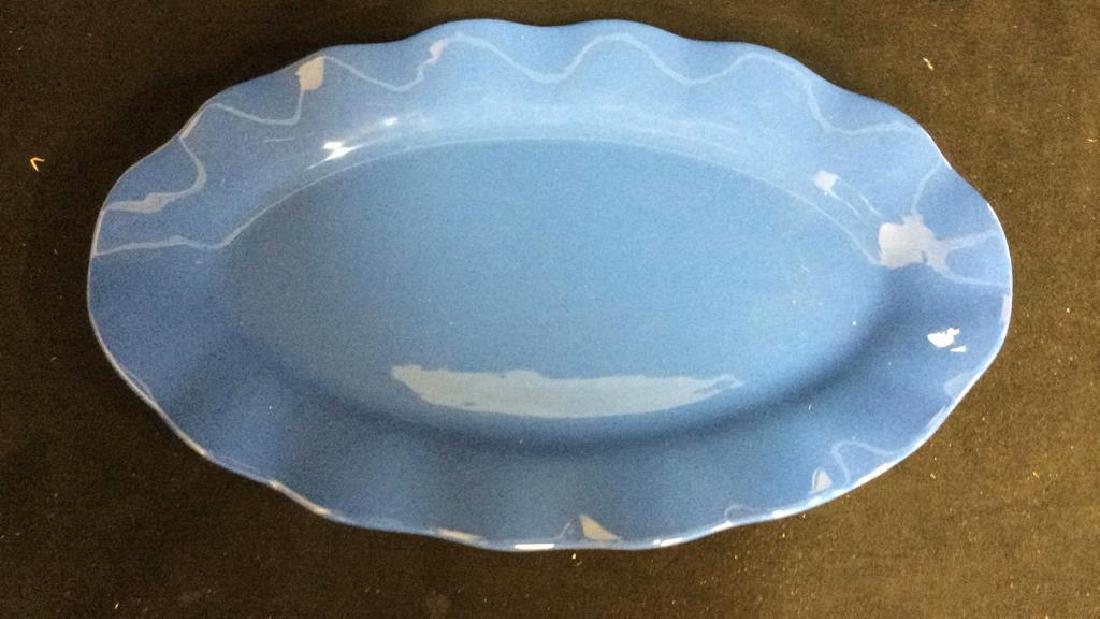 Blue Ceramic Serving Platter - 5