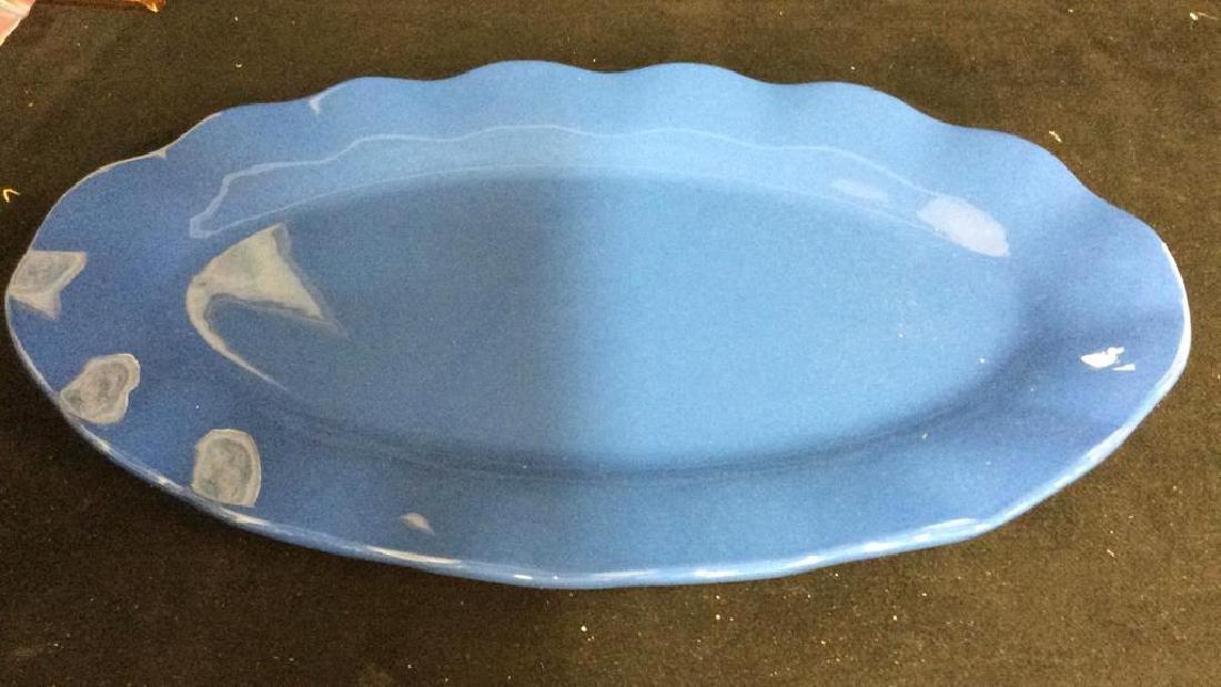Blue Ceramic Serving Platter - 6