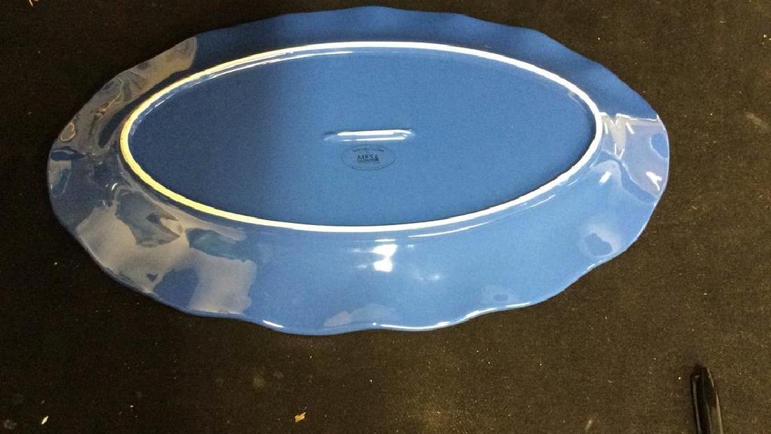 Blue Ceramic Serving Platter - 8
