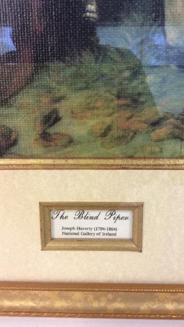 The Blind Piper by Joseph Haverty Print On Board - 3