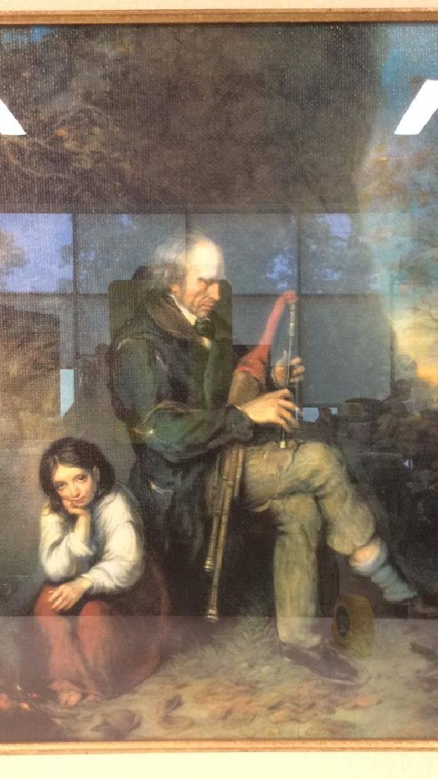 The Blind Piper by Joseph Haverty Print On Board - 4