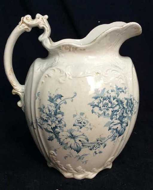 Style 123357 Diamontrigue Jewelry: Antique English Victorian Porcelain Ewer