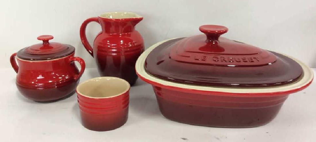 Set 4 LE CREUSET Stoneware Ceramic Pottery