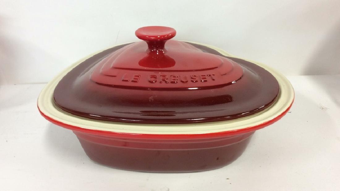 Set 4 LE CREUSET Stoneware Ceramic Pottery - 2