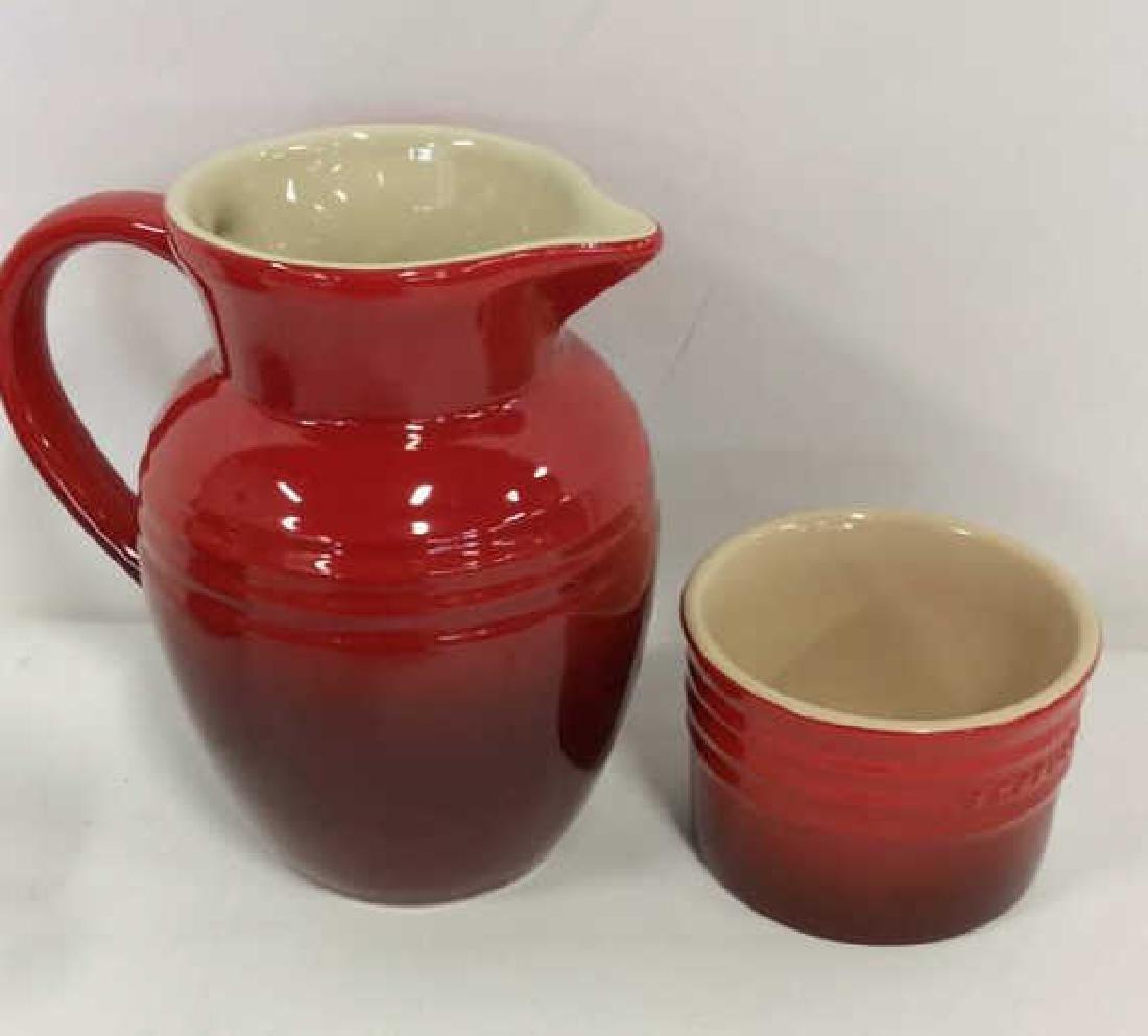 Set 4 LE CREUSET Stoneware Ceramic Pottery - 9