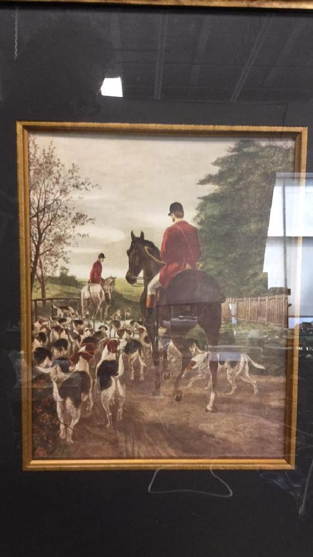 Lot 2 Hunt Scenes by E.A.S. Douglas Print On Board - 5