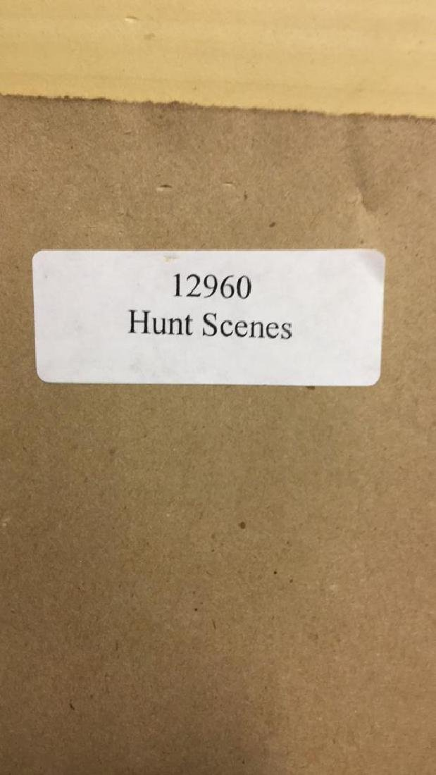 Lot 2 Hunt Scenes by E.A.S. Douglas Print On Board - 9