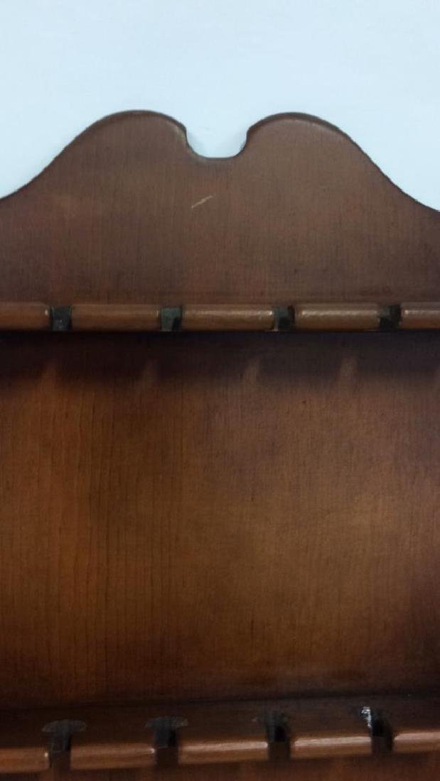 Pair Wood Wall Hanging Souvenir Spoon Racks - 4