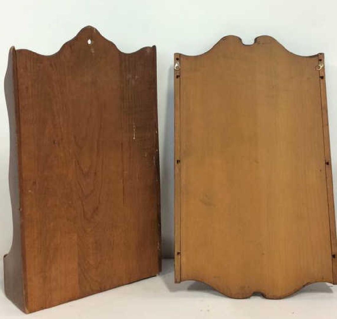 Pair Wood Wall Hanging Souvenir Spoon Racks - 8