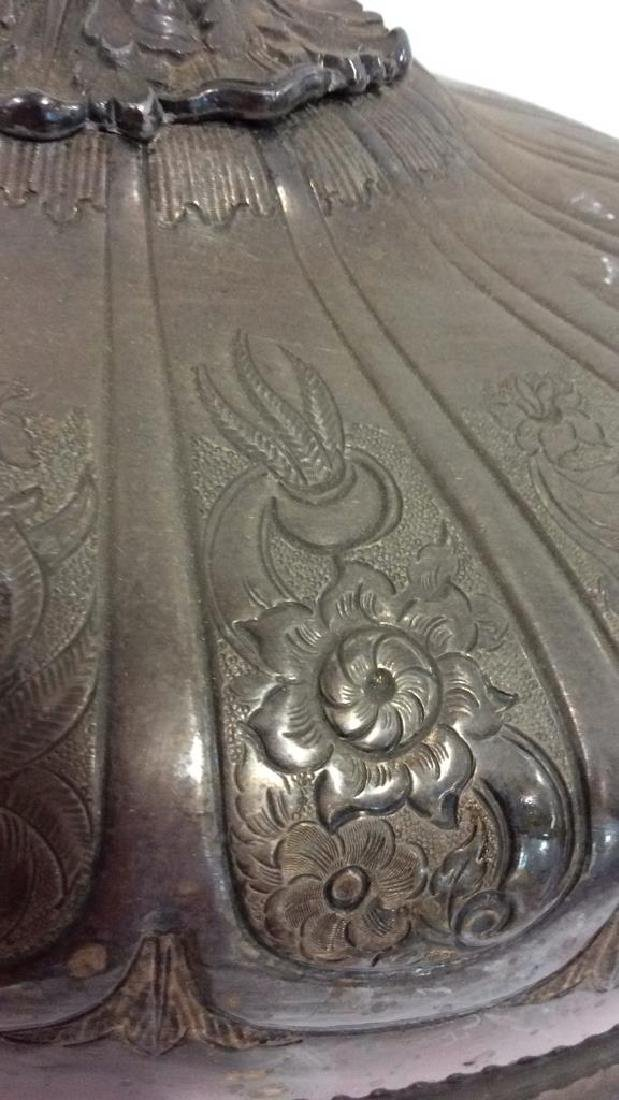 Victorian Antique Silver Plate Serving Dish Lid - 4