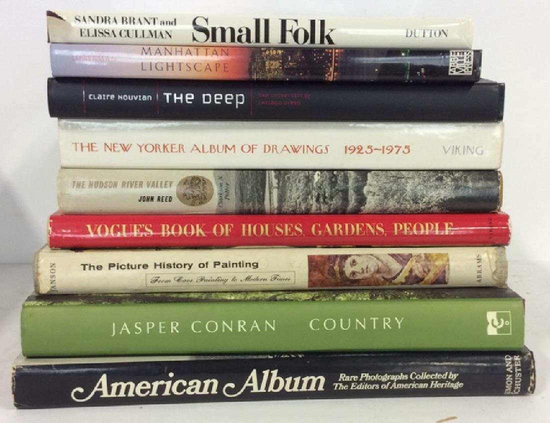 Group Lot Coffee Table Books History, Art, Country