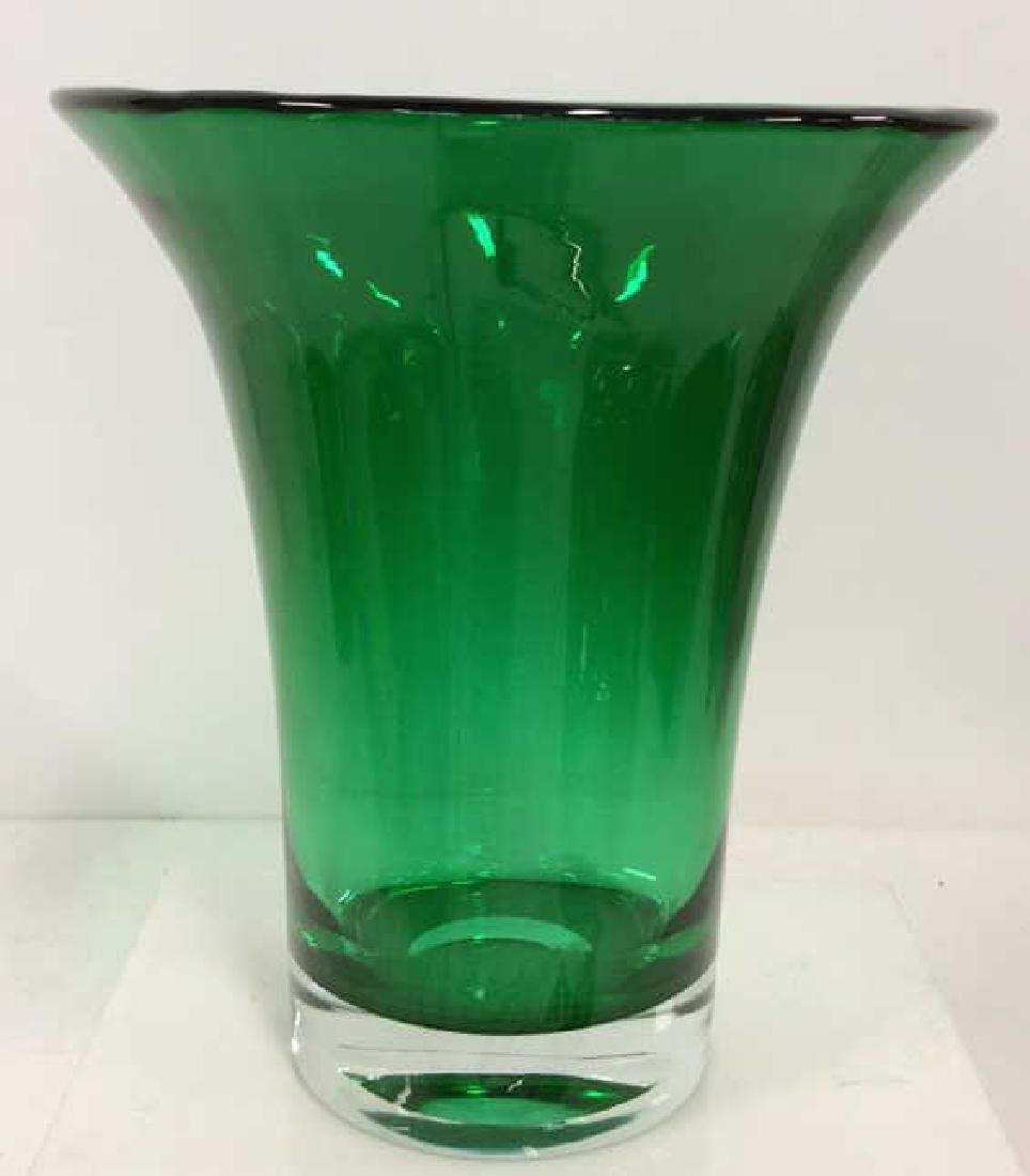 Green Toned Art Glass Vase