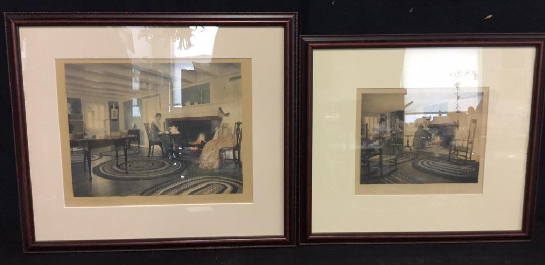 Lot 2 Wallace Nutting Hand Colored Print