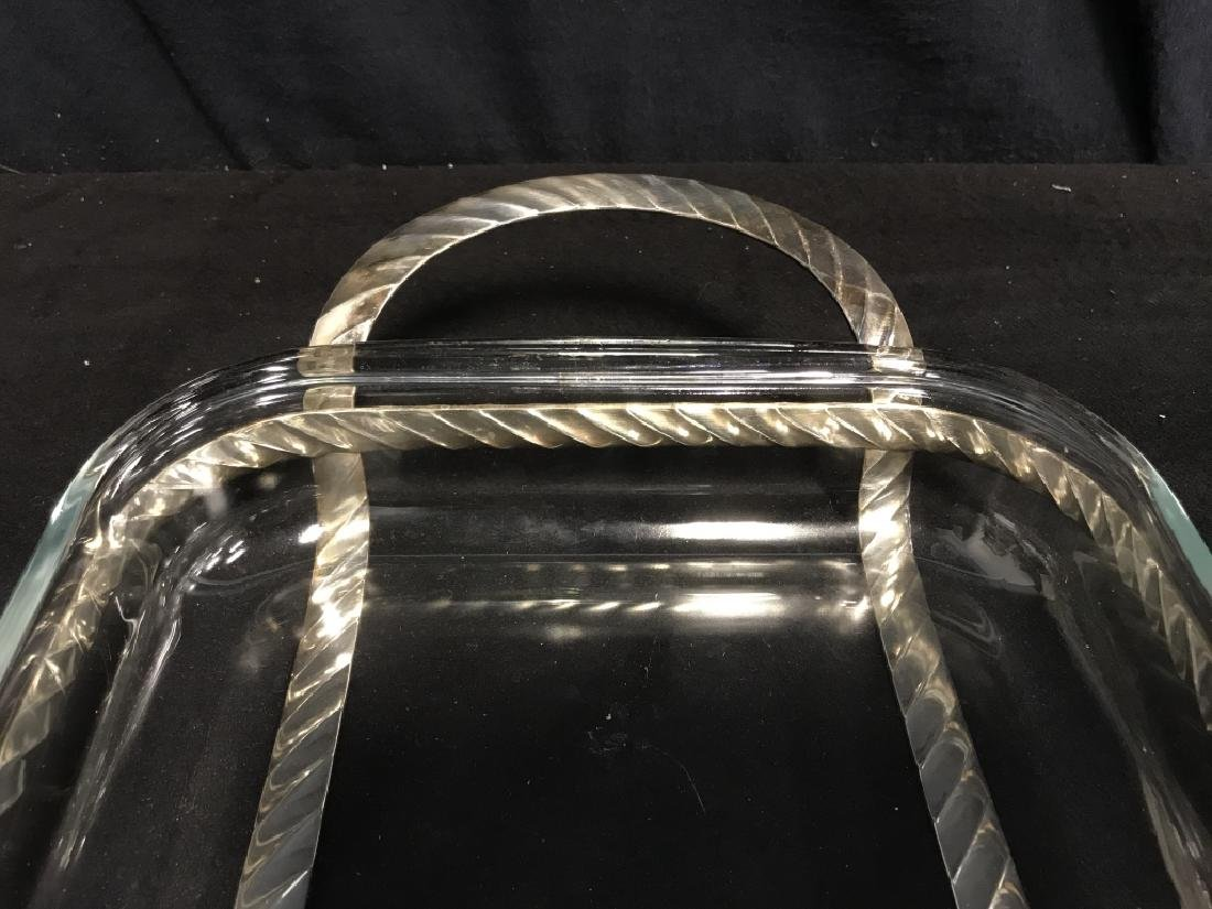 Poss Silver Plate Serving Stand With Glass Dish - 2