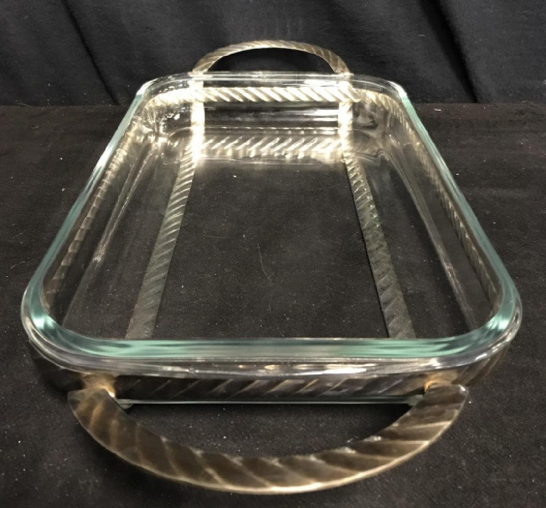 Poss Silver Plate Serving Stand With Glass Dish - 3