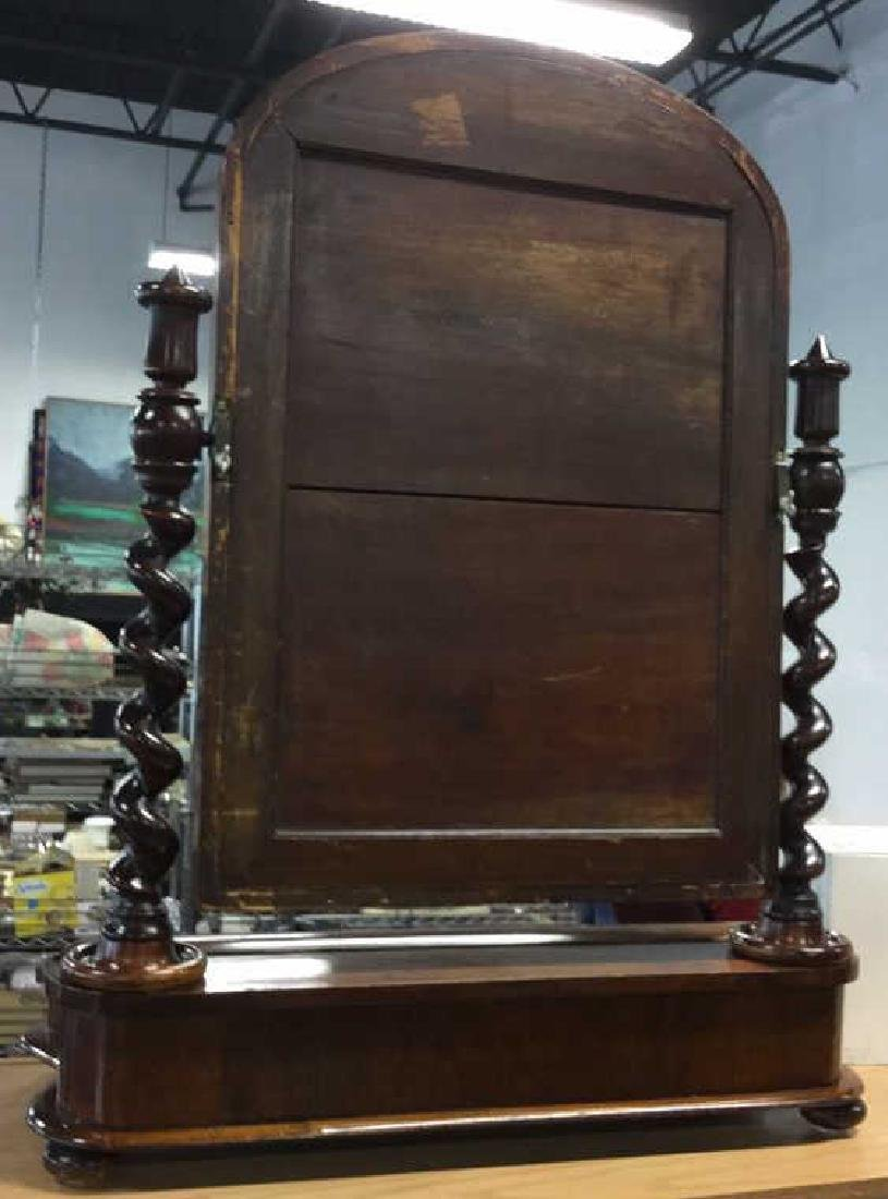 Carved Antique Rotatable Dresser Top Mirror - 7