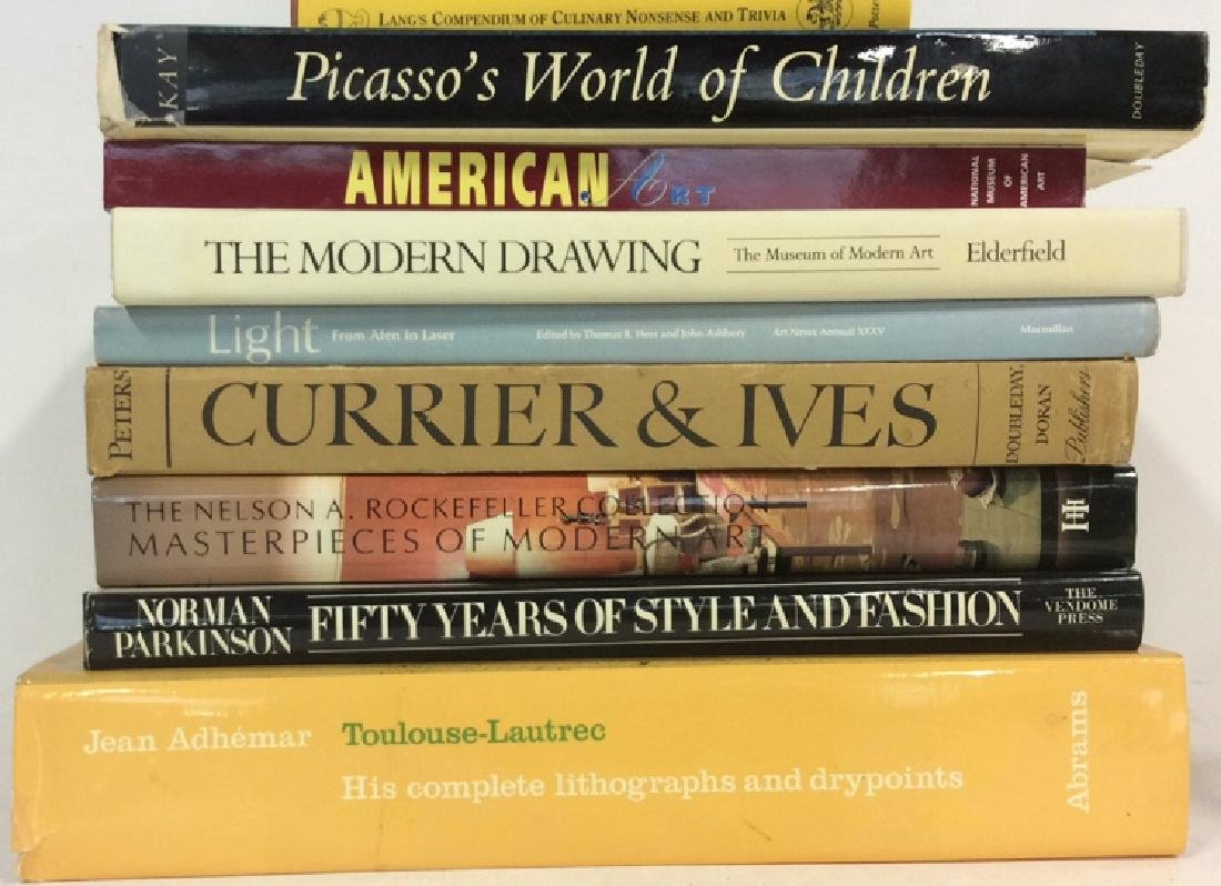 Group Lot Coffee Table Art  Books