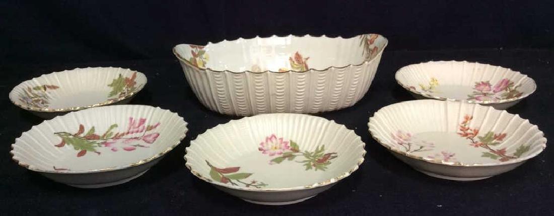 Lot 6 Porcelain Plates & Oval Serving Dish
